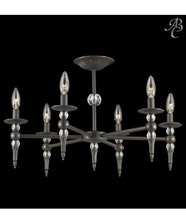Shown in Polished Brass finish and 30% Lead Clear Cut Crystal accent